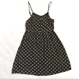 H&M Divided Black Sleeveless Sun Dress sz 4